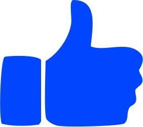 thumb up blue